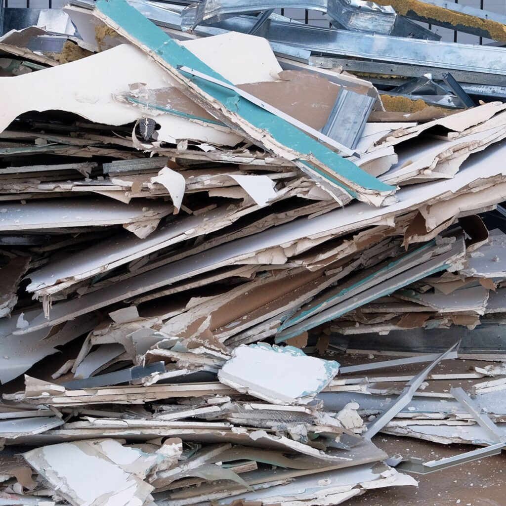 Drywall recycling.