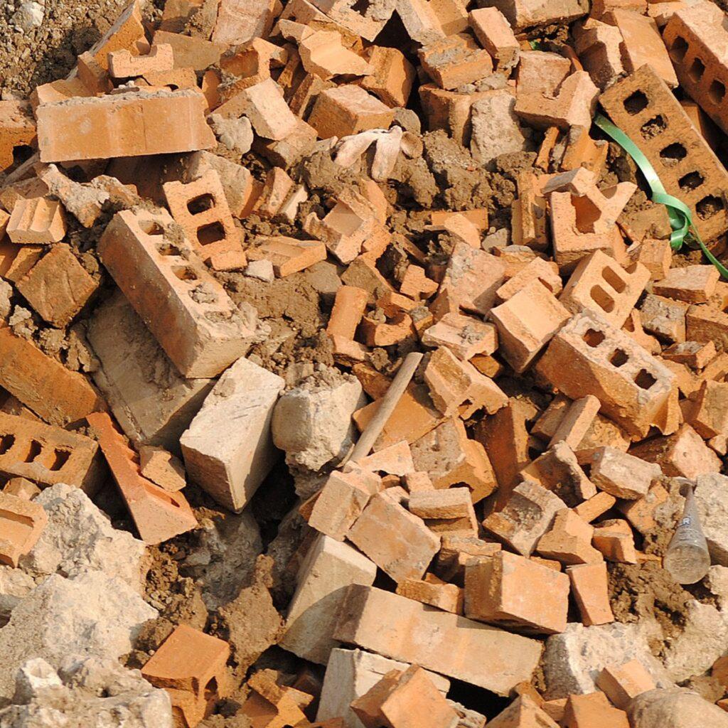 Brick recycling.